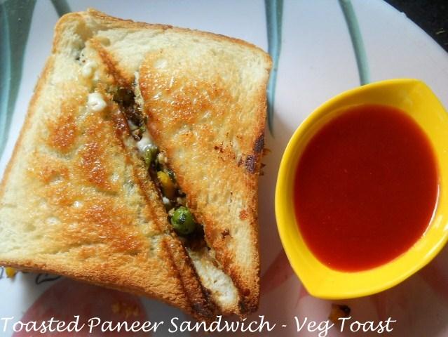 Paneer Toast Sandwich Recipe – How to make Paneer Toast Sandwich