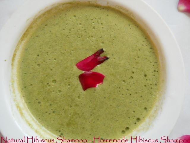 Natural Hibiscus Shampoo - Homemade Hibiscus Shampoo