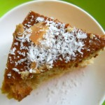 Coconut Cake with Coconut Milk and Almonds