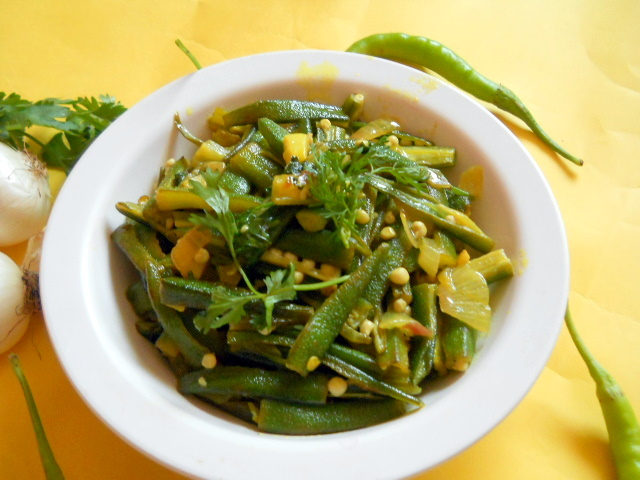 Easy Okra Indian Style