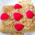 Eggless Coconut Tea Cake