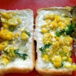 Corn Chili Cheese Toast Sandwich, How to make Corn Chili Cheese Toast Sandwich