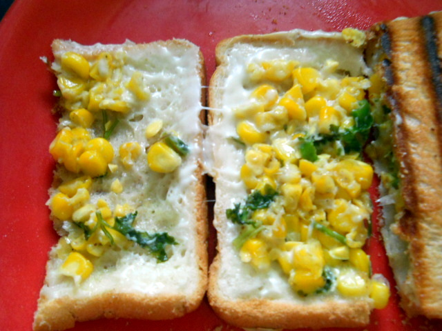 Corn Chili Cheese Toast Sandwich, How to make Corn Chili Cheese Toast Sandwich