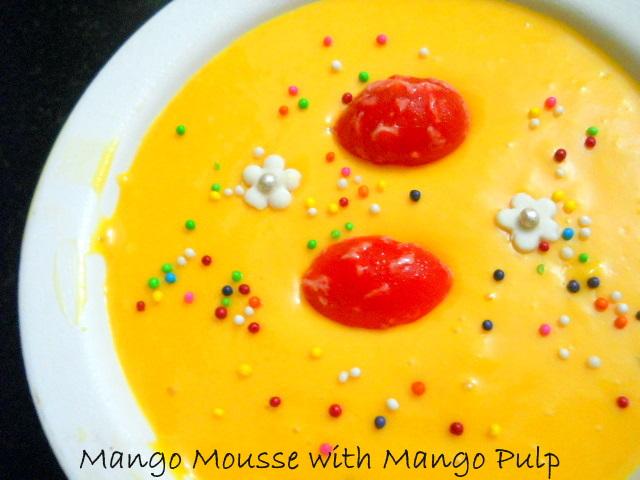 Mango Mousse with Mango Pulp