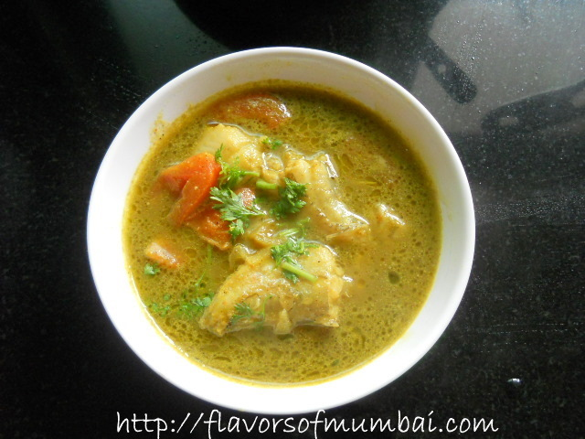 Fresh Bombay Duck Fish Green Curry