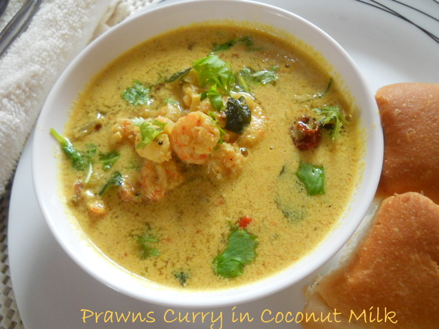 Prawns Curry in Coconut Milk, How to make Prawns Curry with Coconut Milk