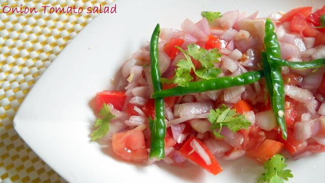 Instant Onion Tomato Salad, Onion Tomato Salad Recipe   Salad Recipe