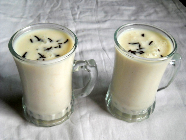 How to make Custard Apple Milkshake
