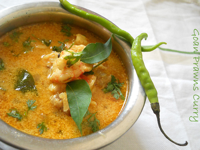 Goan Mild Spiced Prawns Curry