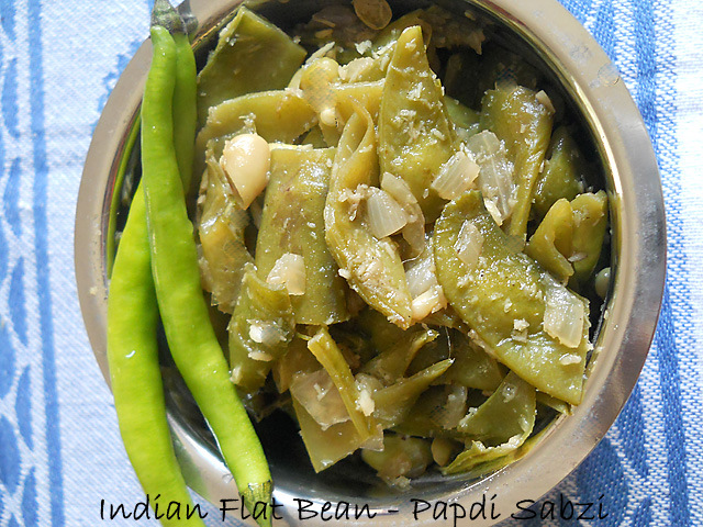Papdi Sabzi Recipe, How to mak Papdi Sabzi Recipe – Indian Flat Beans Recipe