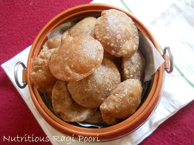 Nutritious Ragi Poori