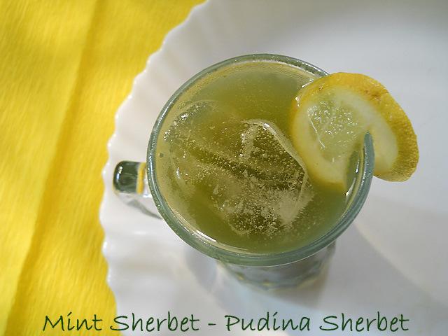 Mint Sherbet, Mint Sherbet Recipe, Mint Sherbet Drink, lemon Mint ...