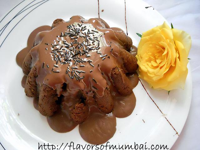 Eggless Almond Cardamom Cake