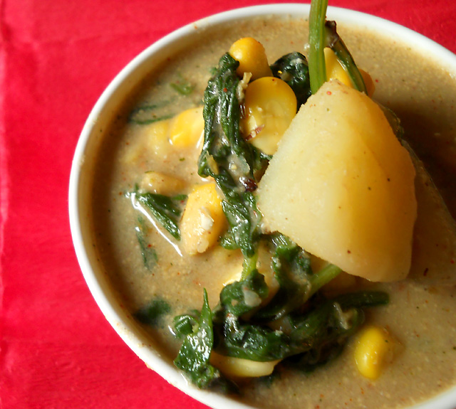 Corn Spinach Curry