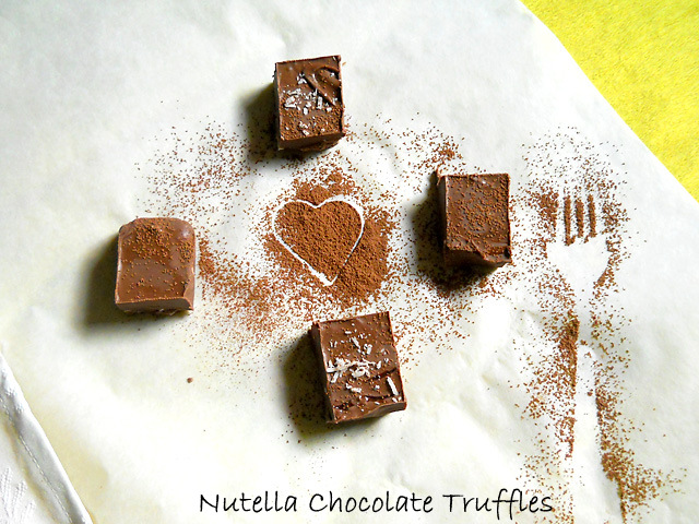 Nutella Chocolate Truffles