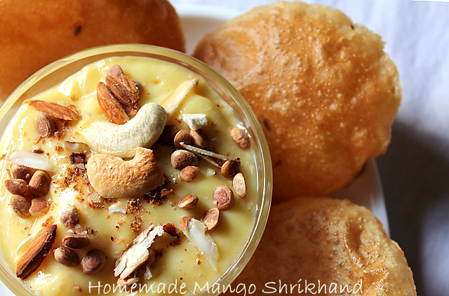 Homemade Mango Shrikhand
