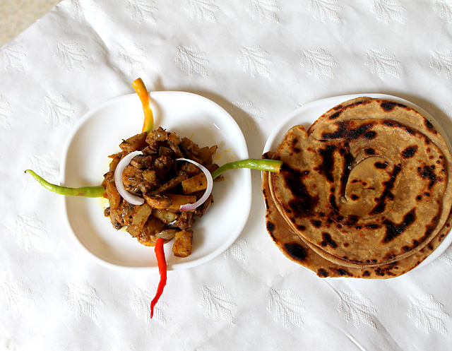 Mushroom Potato Recipe Indian
