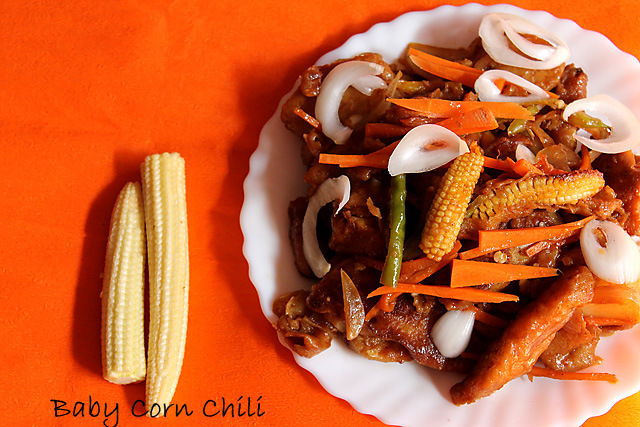 Crispy Babycorn Chili