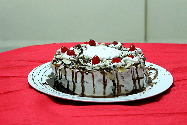 Eggless Black Forest Cake Recipe, How to make Eggless Black Forest Cake