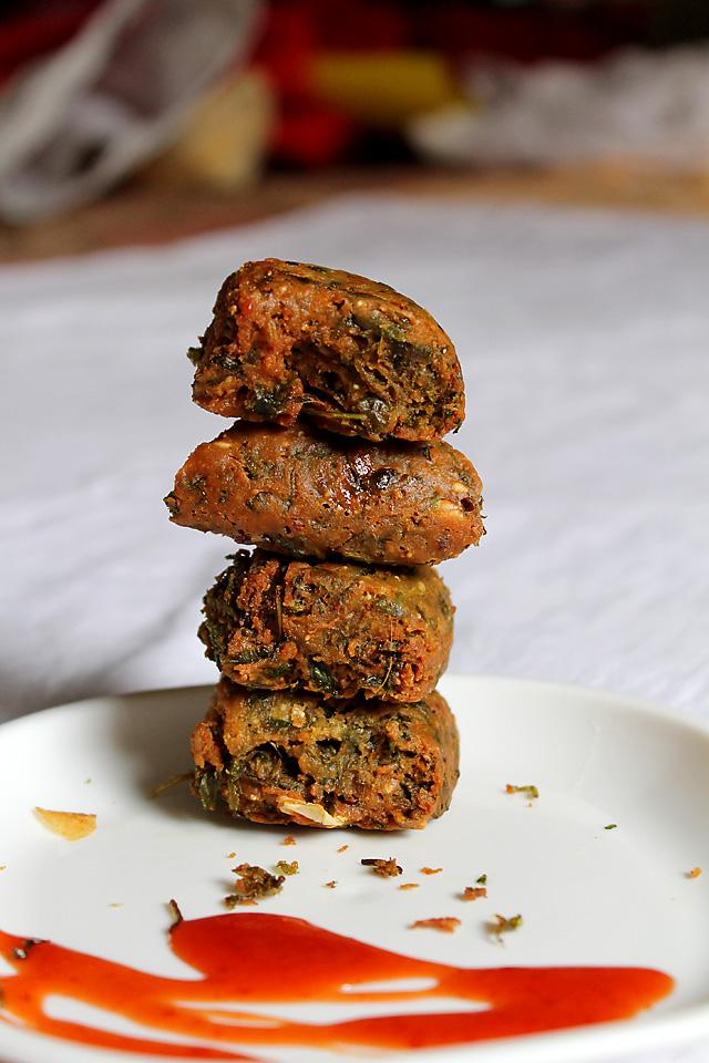 Kothimbir Vadi – Coriander Fritters