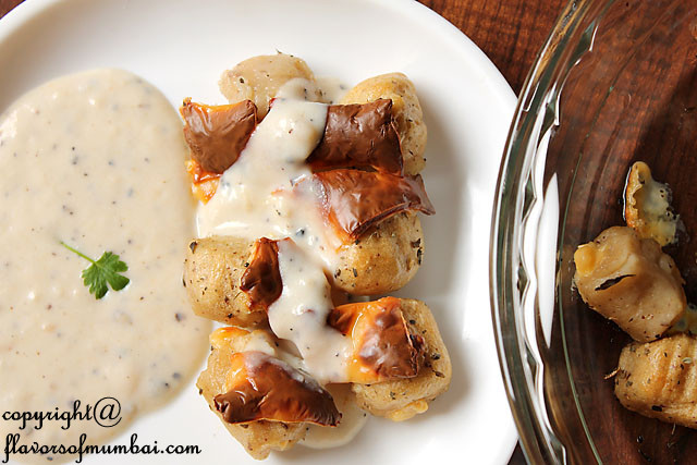 Baked Cheese Stuffed Gnocchi