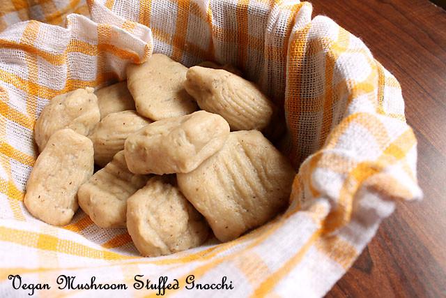 Vegan Mushroom Stuffed Gnocchi