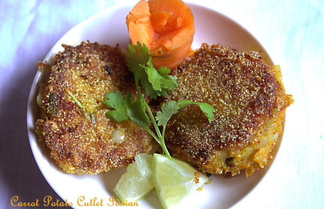 Carrot Potato Cutlet Indian, How to make Carrot Cutlet Recipe