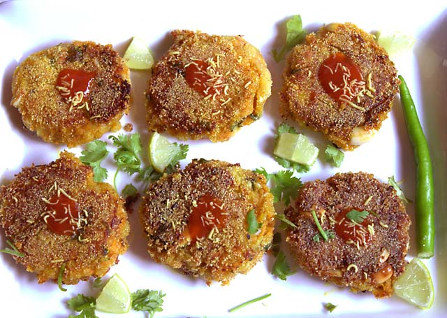 Carrot Potato Cutlet Indian