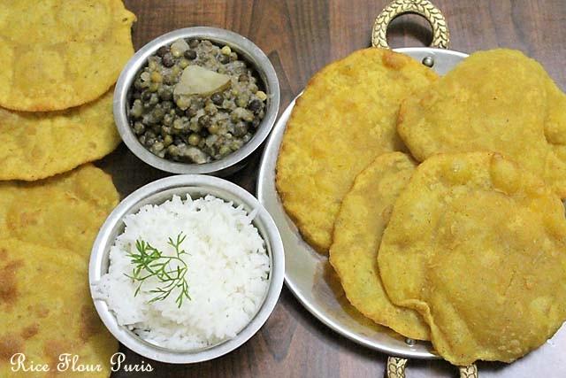 Goan Rice Flour Poori – Rice Flour Poori recipe |  Rice Flour Puffed Breads