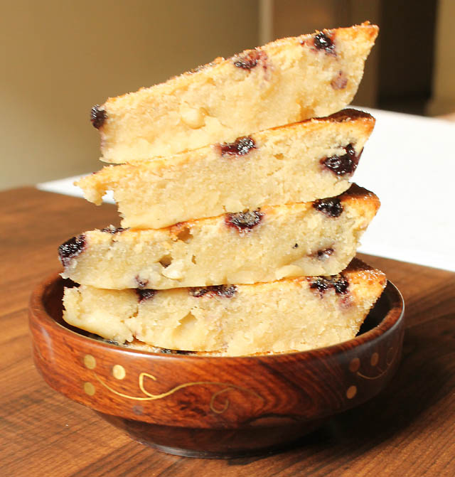Eggless Blueberry Cake Recipe, Eggless Blueberry Cake With Coconut