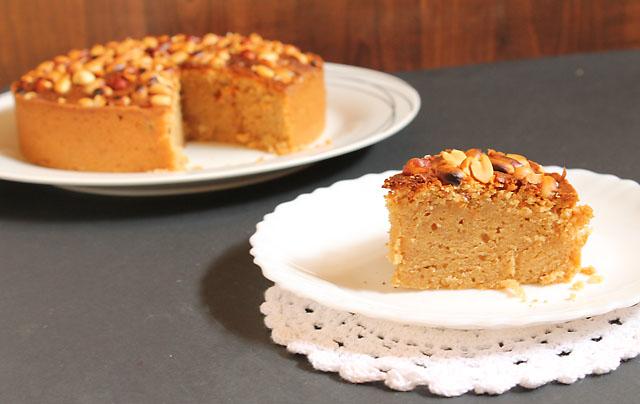 Eggless Peanut Butter Cake