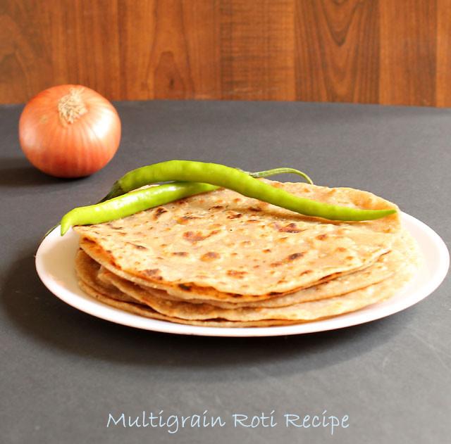 Multigrain Roti Recipe, Easy Multigrain Indian Roti Or Flat Bread