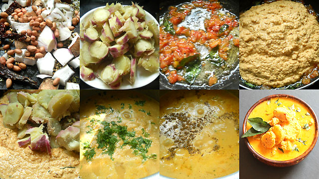 Sweet Potato Curry Indian Style-collage