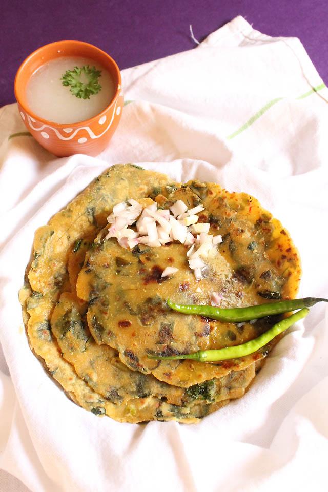 Millet Flat Bread, Indian Sorghum Millet Bread | Jowar Methi Dhebra
