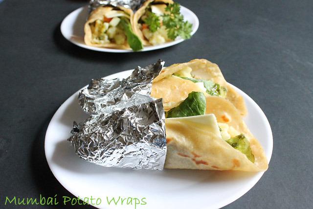 Mumbai Potato Wrap