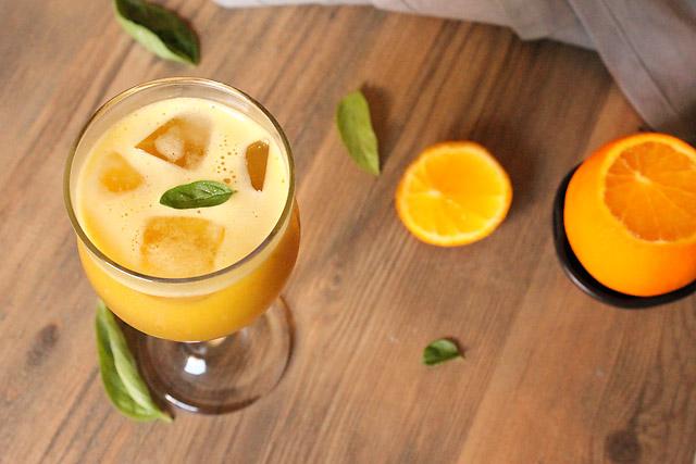 Orange Basil Juice Recipe, How to make Orange Basil Juice Recipe