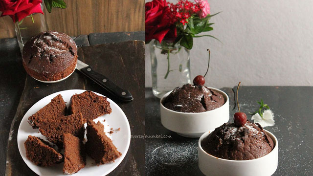 Basic Chocolate Chiffon cake collage