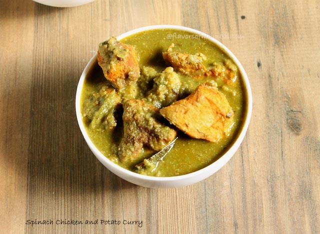 Spinach Chicken and Potato Curry