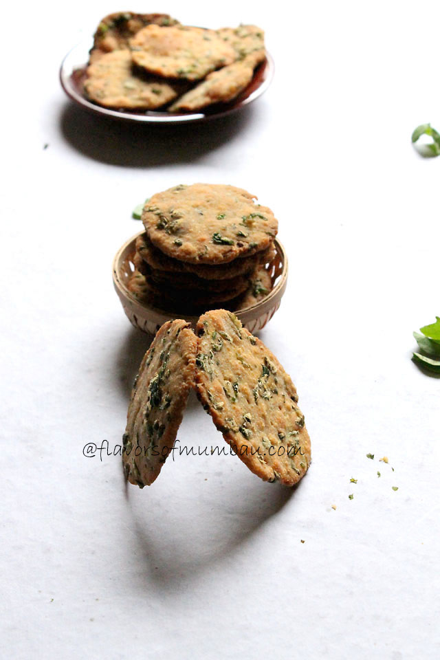 Farsi Puri with Methi leaves