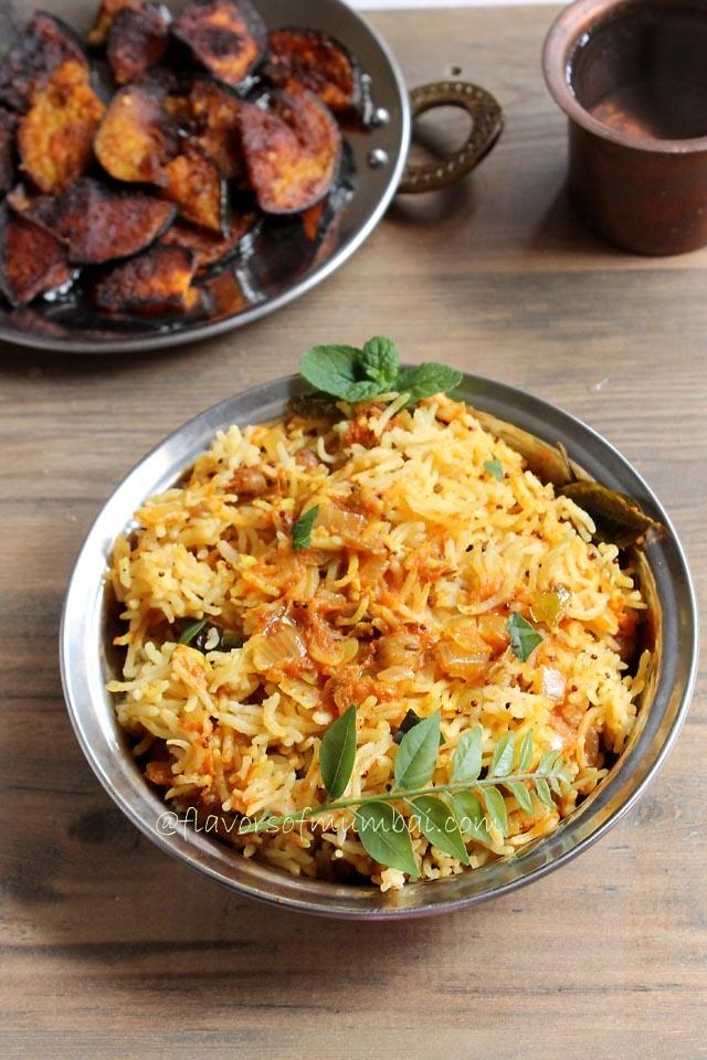 Tomato Rice – Tomato Pulao – Thakkali Sadam