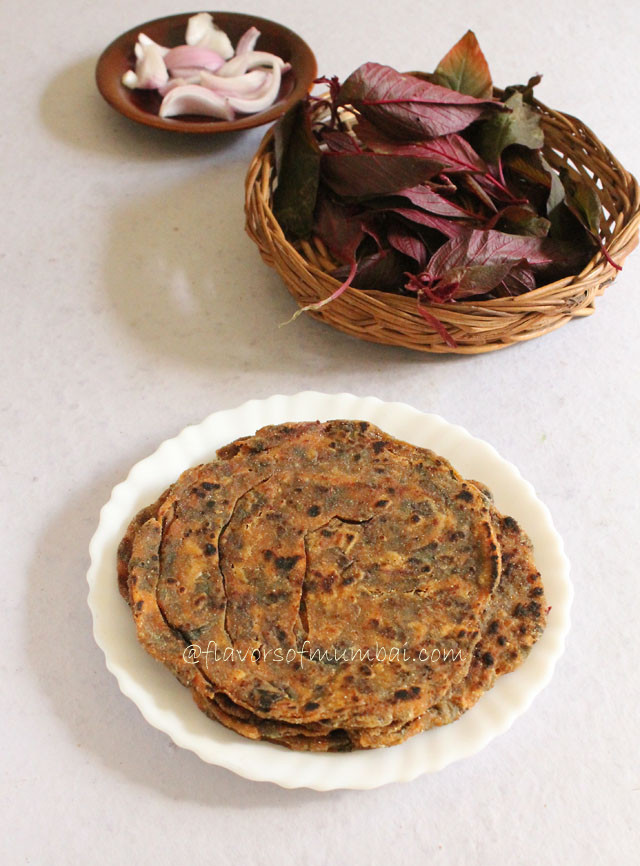 Amaranth Leaves Roti – Amaranth Leaves Thepla