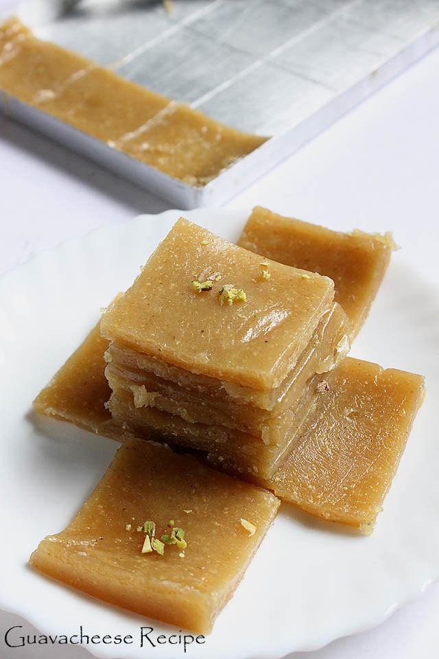 Guavacheese Recipe, How to make Guavacheese, Perad   Goan Christmas Sweet Recipe