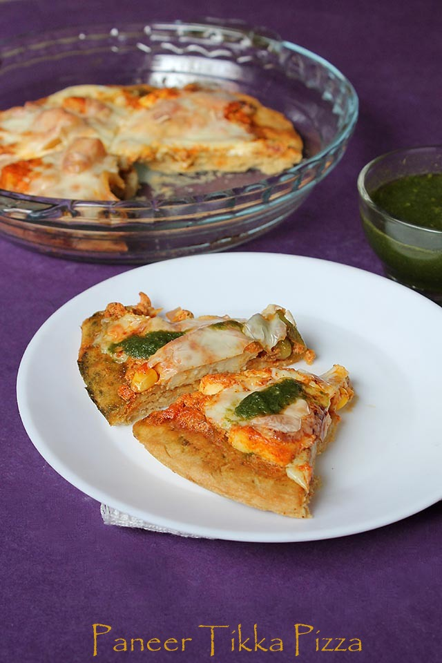 Homemade Paneer Tikka Pizza from scratch