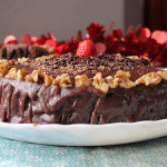 Chocolate Walnut Cake Recipe, How to make Dark Chocolate Walnut Cake Recipe