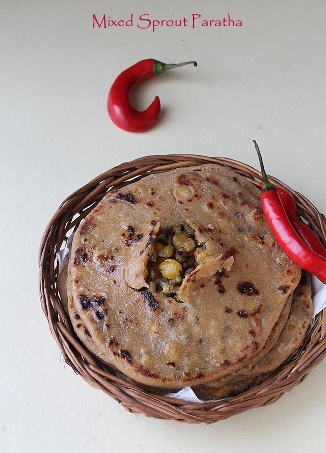Mixed sprout paratha 91