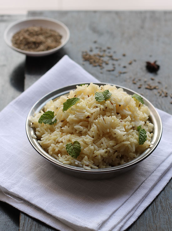 Jeera Rice Recipe, How to make Jeera Rice | Cumin Flavored Rice
