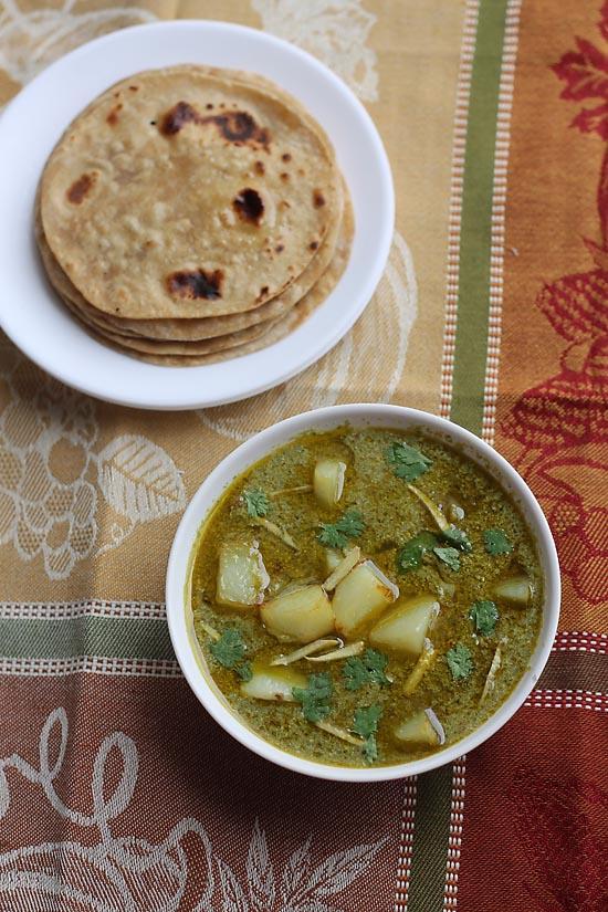 Aloo Palak Recipe, How to make Aloo Palak Recipe | Aloo Palak Curry Recipe