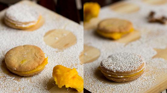Eggless Sandwich Cookies Recipe