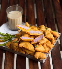 Kand Pakoda Recipe, How to make Kand Pakoda | Purple Yam Pakodas
