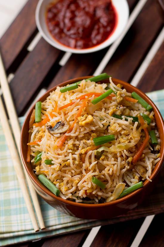 Egg Fried Rice Recipe, Indo Chinese Egg Fried Rice | Egg Recipes